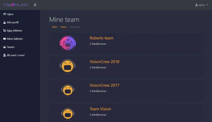 Sett sammen ditt team